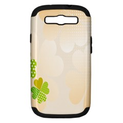 Leaf Polka Dot Green Flower Star Samsung Galaxy S III Hardshell Case (PC+Silicone)