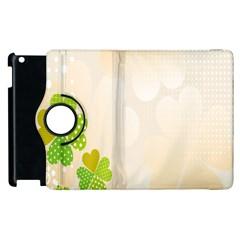 Leaf Polka Dot Green Flower Star Apple iPad 2 Flip 360 Case