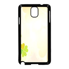 Leaf Polka Dot Green Flower Star Samsung Galaxy Note 3 Neo Hardshell Case (Black)