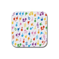 Musical Notes Rubber Coaster (Square)