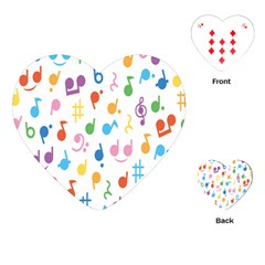 Musical Notes Playing Cards (Heart)