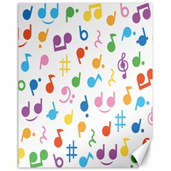 Musical Notes Canvas 16  x 20