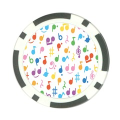 Musical Notes Poker Chip Card Guard