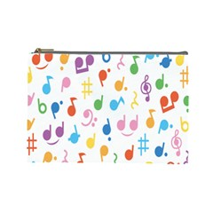 Musical Notes Cosmetic Bag (large)