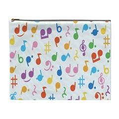 Musical Notes Cosmetic Bag (XL)