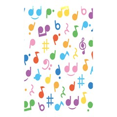 Musical Notes Shower Curtain 48  x 72  (Small)