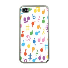 Musical Notes Apple iPhone 4 Case (Clear)