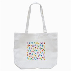 Musical Notes Tote Bag (White)