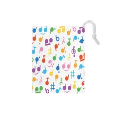 Musical Notes Drawstring Pouches (small)