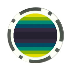 Neon Stripes Line Horizon Color Rainbow Yellow Blue Purple Black Poker Chip Card Guard (10 pack)