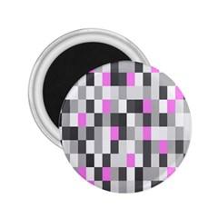 Pink Grey Black Plaid Original 2.25  Magnets
