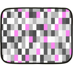 Pink Grey Black Plaid Original Fleece Blanket (Mini)