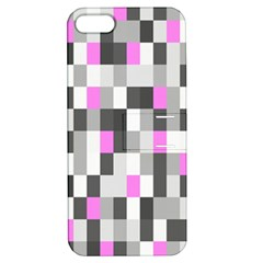 Pink Grey Black Plaid Original Apple iPhone 5 Hardshell Case with Stand