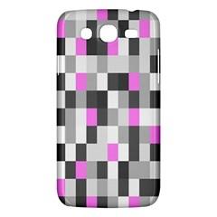 Pink Grey Black Plaid Original Samsung Galaxy Mega 5.8 I9152 Hardshell Case