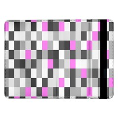Pink Grey Black Plaid Original Samsung Galaxy Tab Pro 12.2  Flip Case