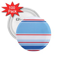 Navy Blue White Red Stripe Blue Finely Striped Line 2.25  Buttons (100 pack)