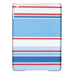 Navy Blue White Red Stripe Blue Finely Striped Line iPad Air Hardshell Cases
