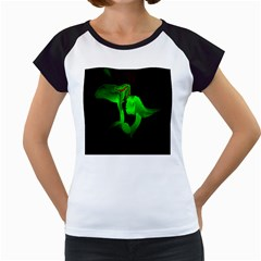 Neon Green Resolution Mushroom Women s Cap Sleeve T