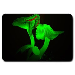 Neon Green Resolution Mushroom Large Doormat