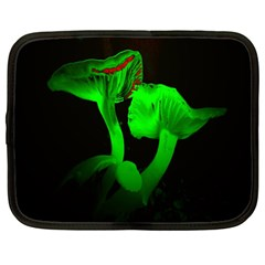 Neon Green Resolution Mushroom Netbook Case (XXL)