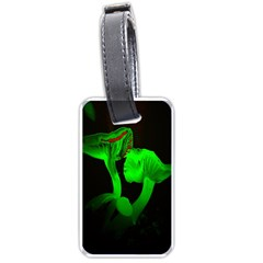 Neon Green Resolution Mushroom Luggage Tags (Two Sides)