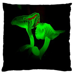 Neon Green Resolution Mushroom Large Cushion Case (Two Sides)