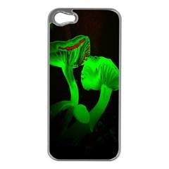 Neon Green Resolution Mushroom Apple iPhone 5 Case (Silver)