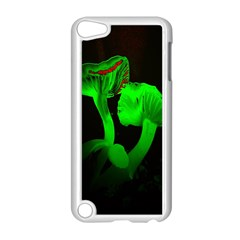 Neon Green Resolution Mushroom Apple iPod Touch 5 Case (White)