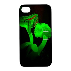 Neon Green Resolution Mushroom Apple iPhone 4/4S Hardshell Case with Stand