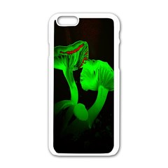 Neon Green Resolution Mushroom Apple iPhone 6/6S White Enamel Case