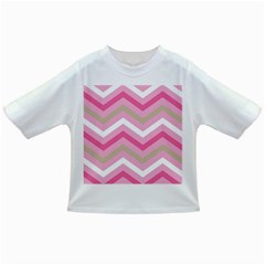 Pink Red White Grey Chevron Wave Infant/Toddler T-Shirts