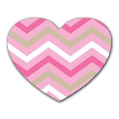 Pink Red White Grey Chevron Wave Heart Mousepads