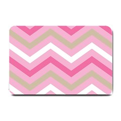 Pink Red White Grey Chevron Wave Small Doormat