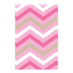 Pink Red White Grey Chevron Wave Shower Curtain 48  x 72  (Small)
