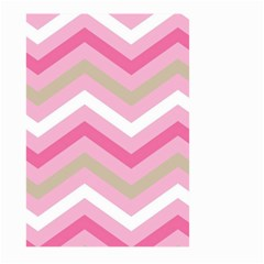 Pink Red White Grey Chevron Wave Large Garden Flag (Two Sides)