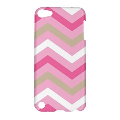 Pink Red White Grey Chevron Wave Apple iPod Touch 5 Hardshell Case