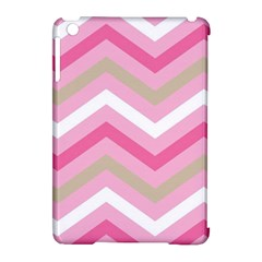 Pink Red White Grey Chevron Wave Apple iPad Mini Hardshell Case (Compatible with Smart Cover)