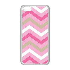 Pink Red White Grey Chevron Wave Apple iPhone 5C Seamless Case (White)