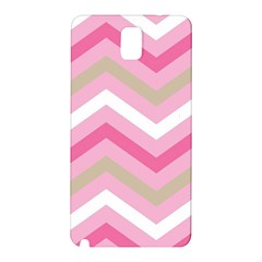 Pink Red White Grey Chevron Wave Samsung Galaxy Note 3 N9005 Hardshell Back Case