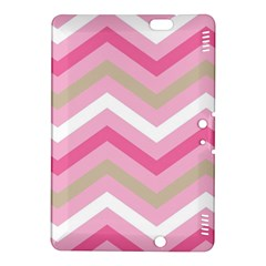 Pink Red White Grey Chevron Wave Kindle Fire HDX 8.9  Hardshell Case