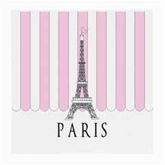 Pink Paris Eiffel Tower Stripes France Medium Glasses Cloth (2-Side)