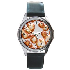 Abstract Texture A Completely Seamless Tile Able Background Design Round Metal Watch