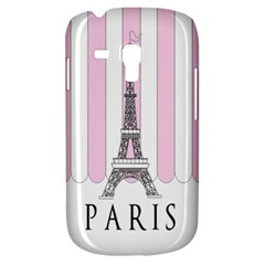 Pink Paris Eiffel Tower Stripes France Galaxy S3 Mini