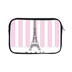 Pink Paris Eiffel Tower Stripes France Apple iPad Mini Zipper Cases