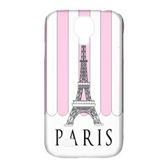 Pink Paris Eiffel Tower Stripes France Samsung Galaxy S4 Classic Hardshell Case (PC+Silicone)