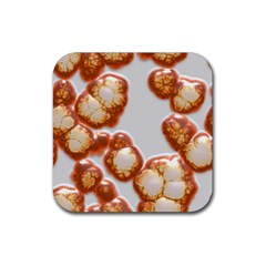 Abstract Texture A Completely Seamless Tile Able Background Design Rubber Coaster (square)