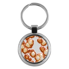 Abstract Texture A Completely Seamless Tile Able Background Design Key Chains (Round)