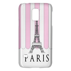 Pink Paris Eiffel Tower Stripes France Galaxy S5 Mini