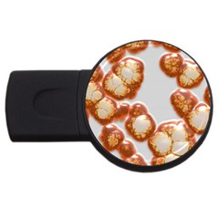 Abstract Texture A Completely Seamless Tile Able Background Design USB Flash Drive Round (4 GB)