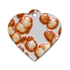 Abstract Texture A Completely Seamless Tile Able Background Design Dog Tag Heart (One Side)